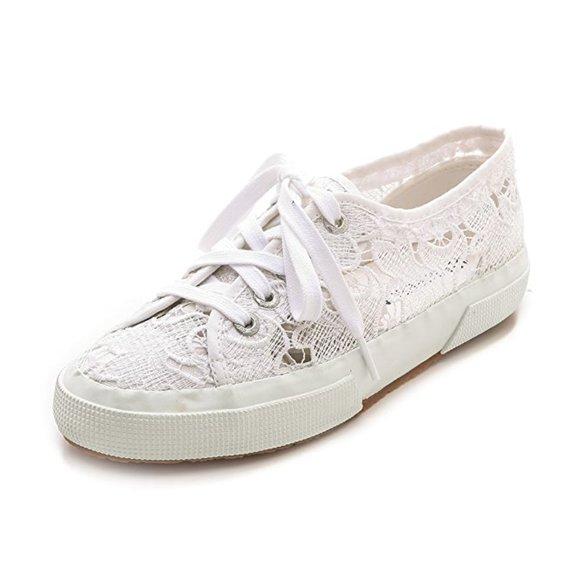 Superga Shoes   White Lace Sneaker